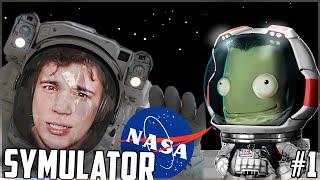 SYMULATOR NASA! (ಠ ͜ʖಠ) - Kerbal Space Program #1 [kariera]