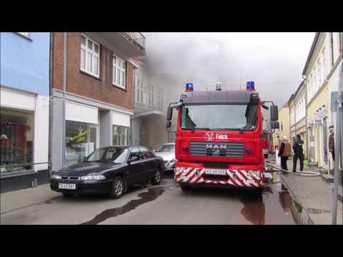 Brand Saga Bio i Nakskov (Fire Building Denmark)