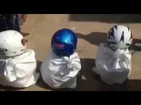 video lucu durasi pendek lomba pocong helm