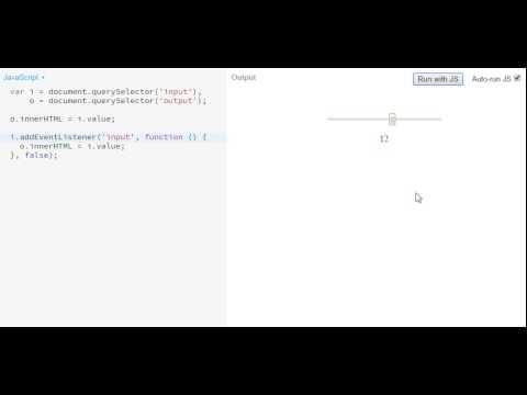 onchange vs  oninput for Range Sliders - Impressive Webs