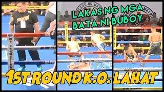 Angas ng BATA ni BUBOY FERNANDEZ   Kapwa nanalo ng 1st Round KNOCKOUT