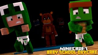Minecraft -BABY SCHOOL DAYCARE - FIVE NIGHTS AT FREDDYS!