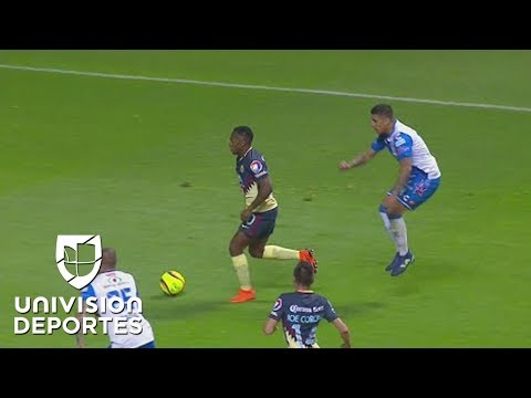 ¡A lo Messi! Renato Ibarra se quitó a cinco del camino y descontó para  las Águilas