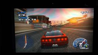 Ford Mustang - Race at Long Beach, California (PS2 Gameplay)