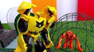 Десептикон Биск на базе Автоботов. Игры с роботами Трансформерами.