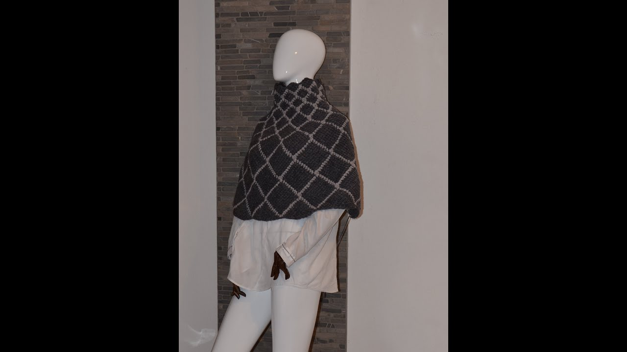 Loop Pelerine Oder Poncho Aus Woolly Rauten Gemeinsam Häkeln Youtube