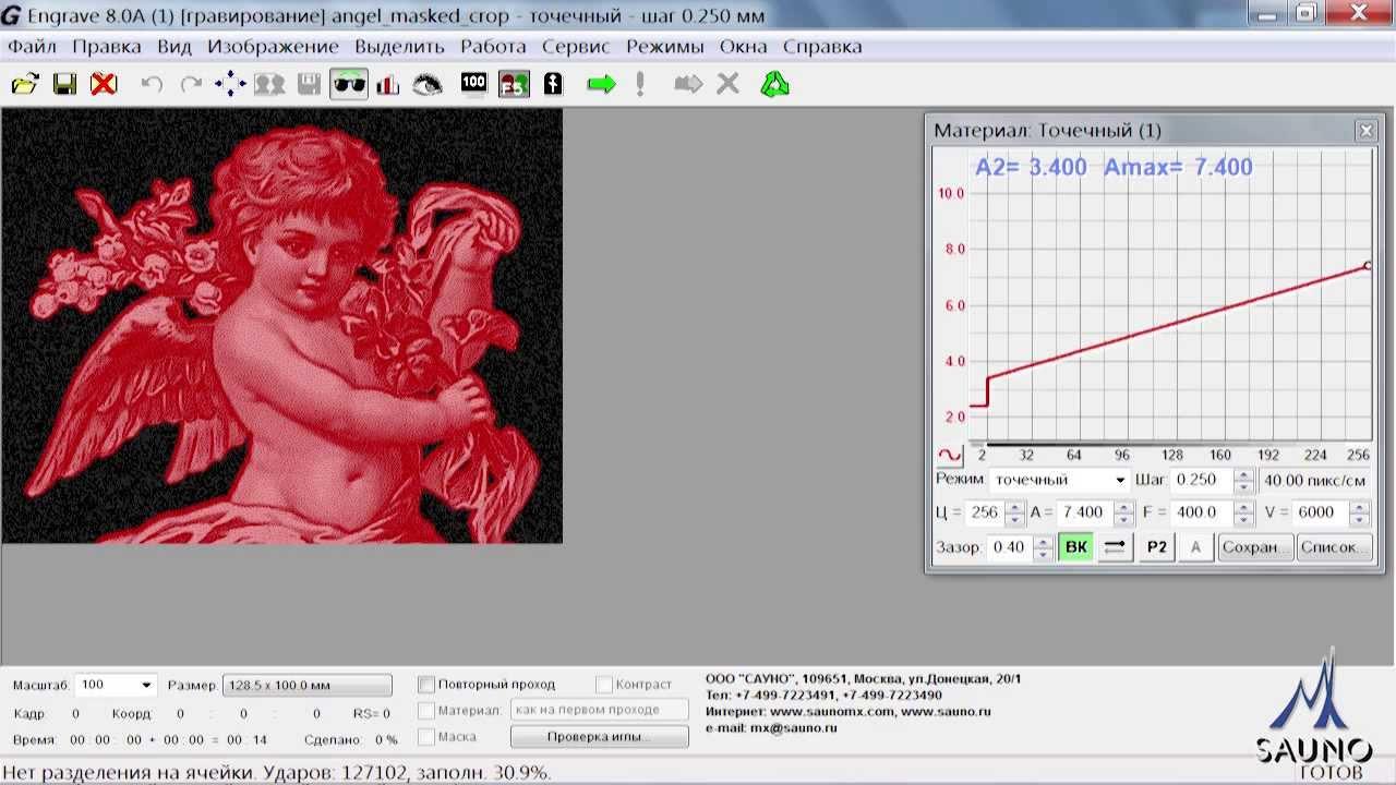 Гравирование фрагментов изображения произвольной формы ...