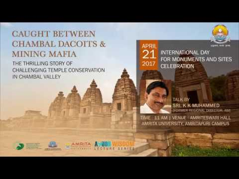 Talk by Mr. K. K. Muhammed,  renowned Indian Archaeologist at Amritapuri