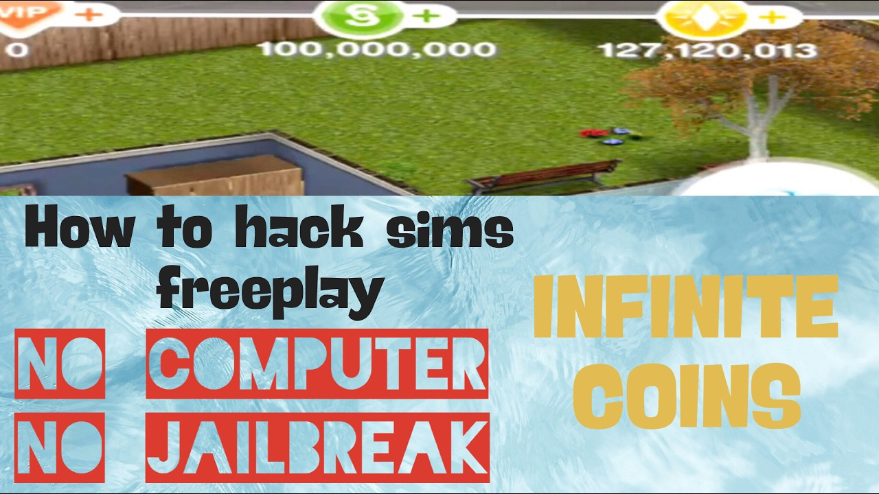 HOW TO HACK SIMS FREEPLAY! INFINITE Coins(NO JAILBREAK) (NO COMPUTER ...