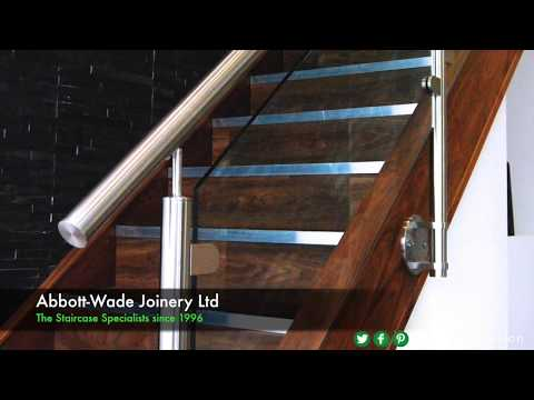 Walnut Staircase Renovation with Stainless Steel & Glass Balustrade