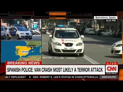 TRAGEDY IN BARCELONA - CNN  AUG 18 2017  Van ploughs into crowd