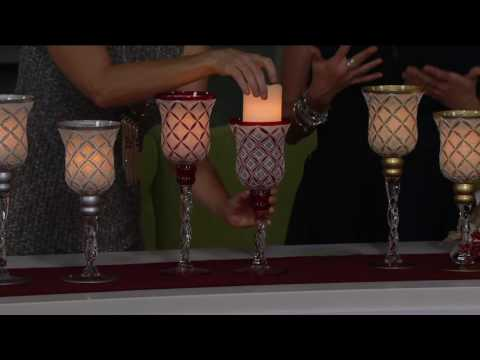 Set of 2 Goblets with Flameless Candles by Home Reflections on QVC