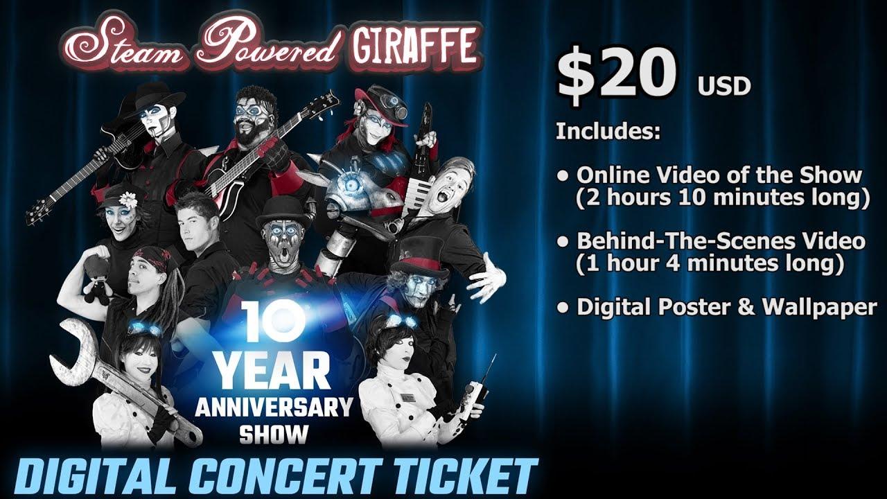 10 Year Anniversary Show Digital Ticket Advertisement Steam
