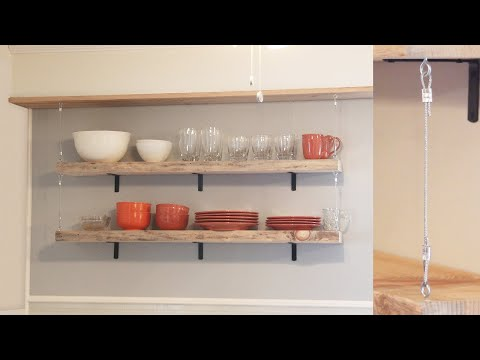 DIY Minimalist Wall Shelving with Wires