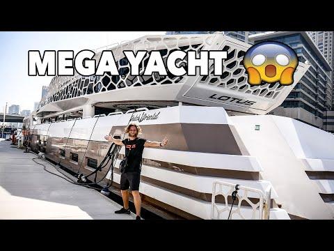 DUBAI CITY LUXURY MEGA YACHT!!💰*PRIVATE TOUR*