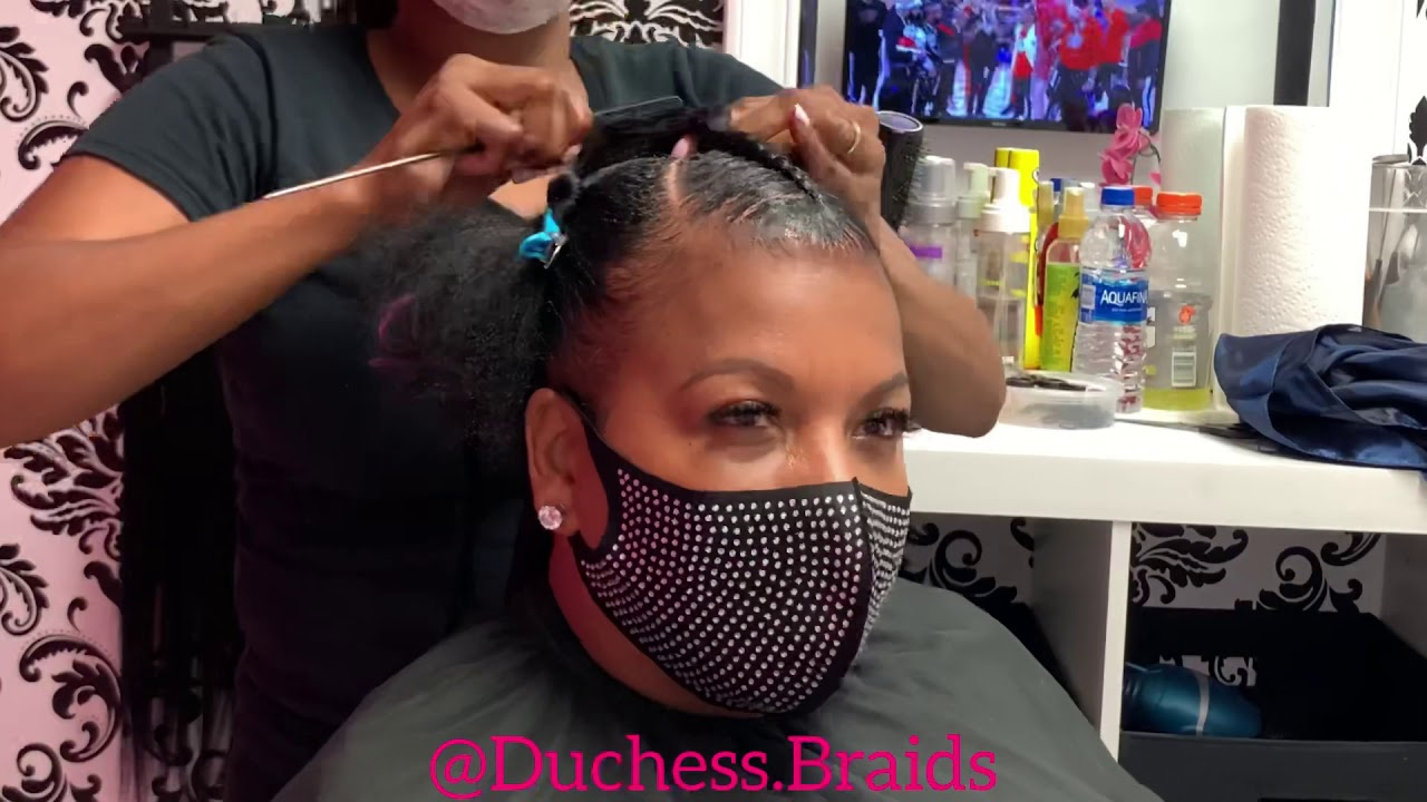 """She said """"6 Braids going up!"""" 