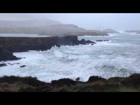 Valentia Island's Telegraph Cove  taking a pounding 9/2/2014