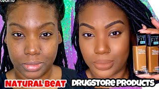 Natural Makeup using ONLY DRUG STORE products!! Beginner friendly