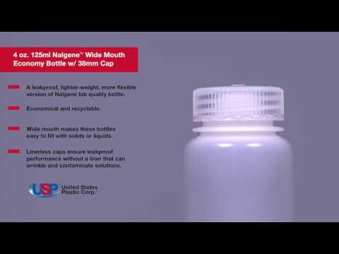 4 OZ. / 125ML NALGENE™ WIDE MOUTH BOTTLE   U.S. Plastic Corporation®