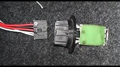 Reparatur des Steckers für Heizungswiderstand Gebläse beim Peugeot 307 (017)
