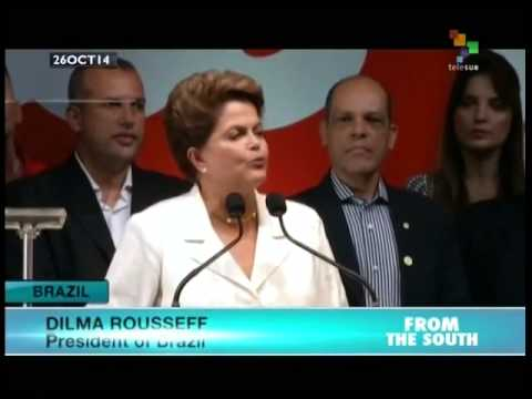Dilma Rousseff wins second term as Brazil's president