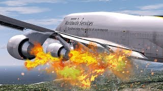 Multiple Engines on Fire | New Flight Simulator 2017 [P3D 4.0 - Amazing Realism]