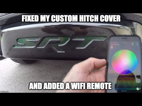 Replaced The LEDs In My Trailer Hitch Cover & Added A WiFi Remote