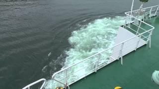 東京湾フェリー その場回頭からの、4400馬力フル加速