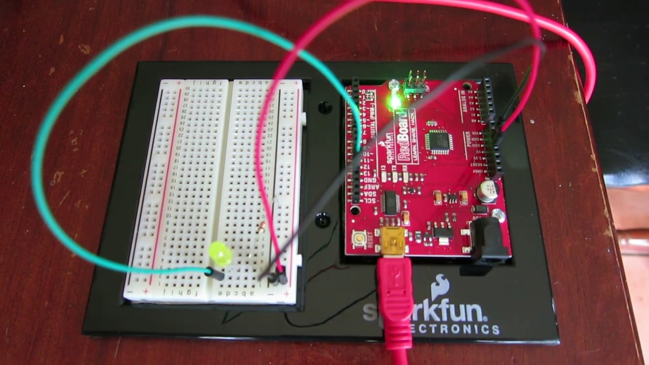 Project #1 in Sparkfun Inventor's Kit for Arduino - YouTube