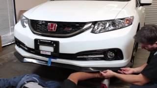 PRO Design Alpha Style Front Lip Install - Civic Sedan 2013 2014 2015