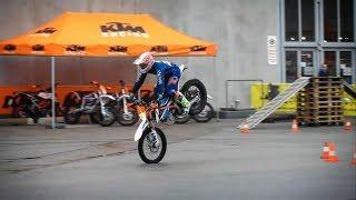 Dieter Rudolf auf KTM Freeride E - Custom Wheels Vienna 2018