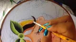 Pintura em tecido – Menina manga parte 2