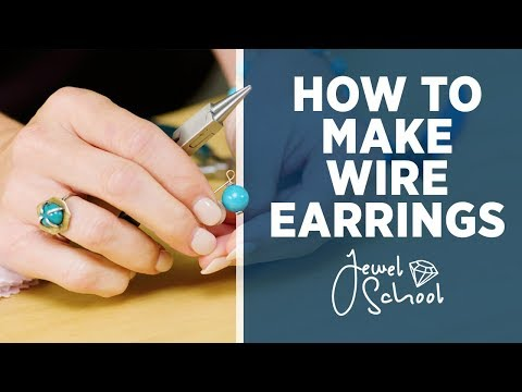 how-to-make-wire-earrings-|-jewelry-101