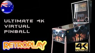 State-of-the-art 4K UHD Virtual Pinball Machine With Analogue Plunger and Video Topper Window