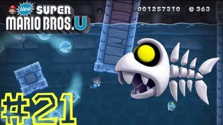 New Super Mario Bros. U -- Sparkling Waters-Ghost Ship: Haunted Shipwreck