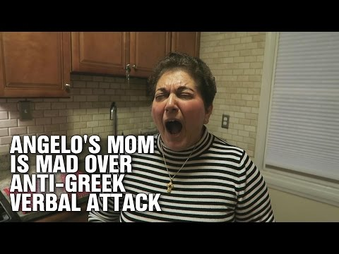 Angelo's Mom is Mad Over Anti-Greek Verbal Attack