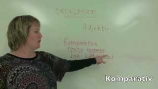 Ordklasser del 2: adjektiv