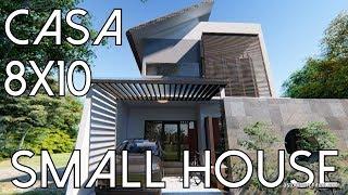 Rumah di lahan 8x10 dengan Area Duduk Luar [kode 011]