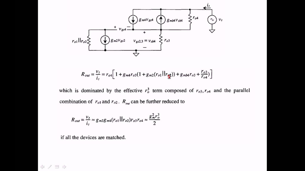 Regulated Cascode Current Mirror Operation Gain And Output Source Is Shown In Figures 1 2 The Bjt Impedance Calculation