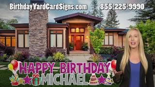 Happy Birthday Yard Card Signs San Antonio Tx Birthday Yard Greeting Signs Birthday Party Yard Sign
