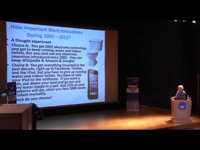 Robert J. Gordon'ın TÜSİAD CEO Forum Toplantısı Açılış Konuşması - 5 Ekim 2013
