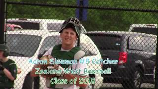 Aaron Sleeman Senior Baseball Highlights Zeeland West MI Class of 2018