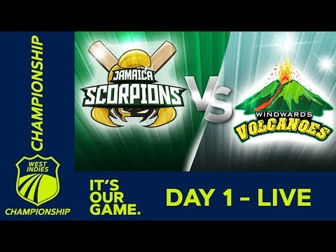 Jamaica v Windwards - Day 1 | West Indies Championship |  Friday 4th January 2019
