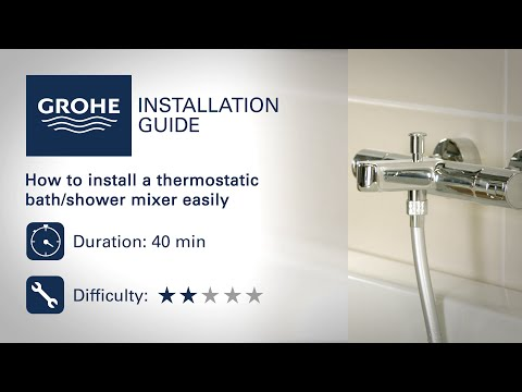 Install A GROHE Thermostatic Bath/shower Mixer