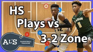 High School Basketball Plays vs 3-2 Zone Defense
