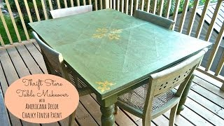 DIY Dining Table Make-Over