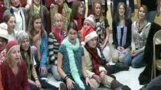 "Anima Young Singers of Greater Chicago sing ""Frosty the Snowman"" as..."