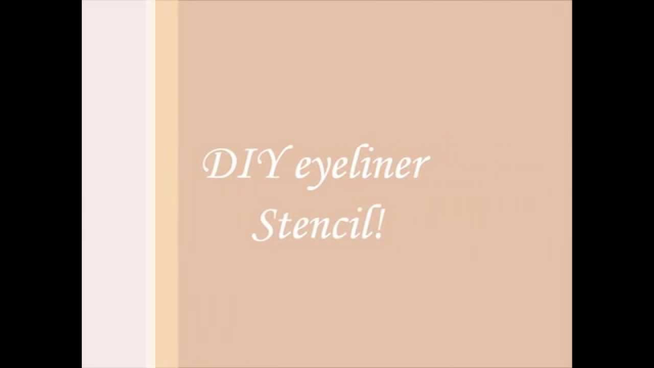 graphic relating to Eyeliner Stencil Printable identified as Do it yourself eyeliner stencil!