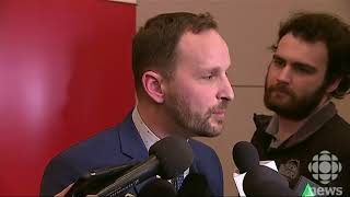 SK NDP Leader Ryan Meili media scrum March 3, 2018 CBC Sask