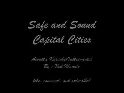 Safe and Sound by Capital Cities (Acoustic Guitar Instrumental/Karaoke)